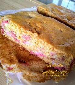 Cross section of the cake