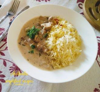 Serve along with saffron rice