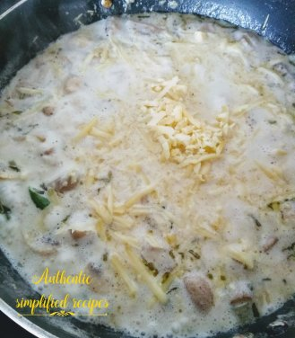 Mix in cheese and simmer for 1-2 minutes
