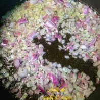 Saute chopped onions